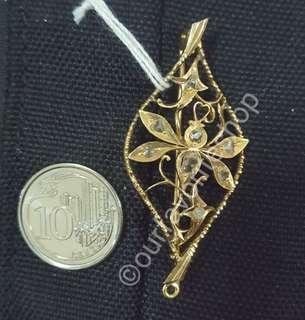 Vintage Peranakan Nyonya Intan Insect Brooch & Pendant