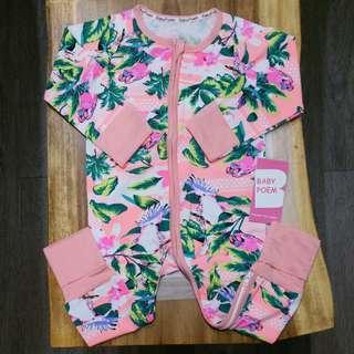BNIB - Baby bodysuit sleepsuit PJ Pajamas Pyjamas