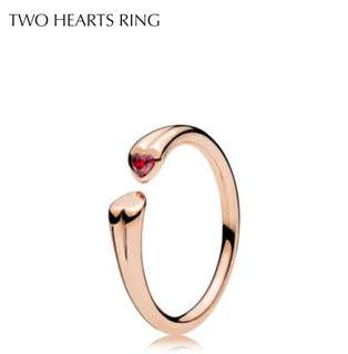 Pandora Two Hearts Ring