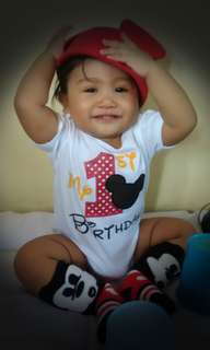 My 1st Bday OOTD set Mickey Mouse theme