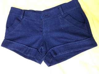 Women's Low Waist royal blue shorts