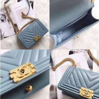 Chanel baby blue Crossbody bag