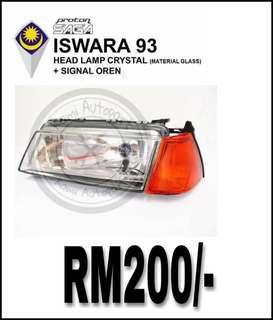 Headlamp Iswara + Signal Oren