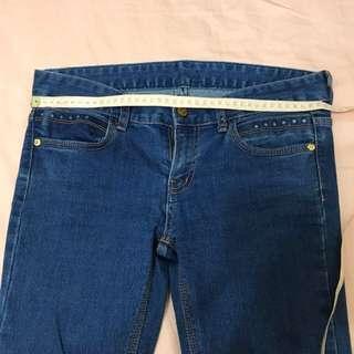 🚚 顯瘦9.5成新小喇叭長褲