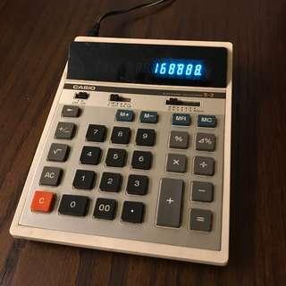 🚚 早期復古 CASIO S-2 綠光計算機