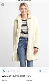 Gap Sherpa coat (size small)