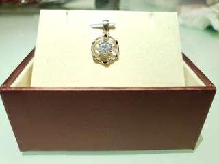 純銀項鍊水鑽鍍厚18k鉑金