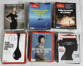 TIME magazines (Will send for recycle by 30/4)