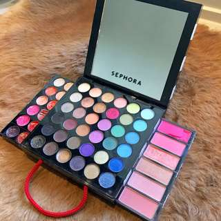 Sephora palette w/ blushes and lipsticks