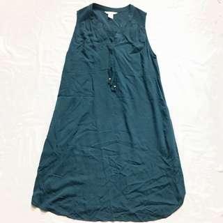 +POS H&M MAMA Green Maternity Dress