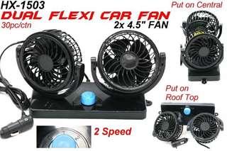 Dual flexi car fan