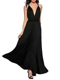 Long Infinity Dress Black
