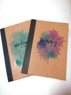 Muji customized notebooks