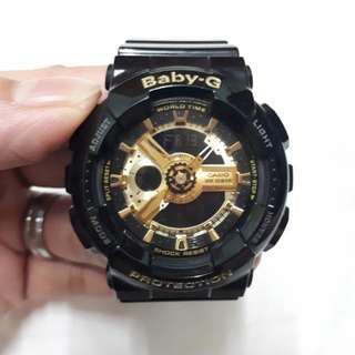 Baby G Black And Gold watch