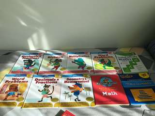 Kumon 7 books Maths G4 n 5, 3 other maths guide bks