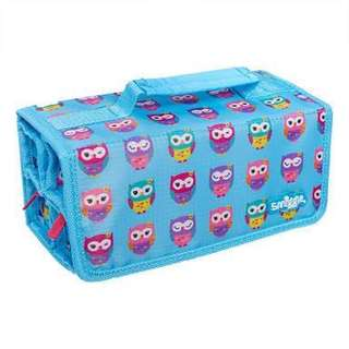 Auth Smiggle Pencils Organizer Pink and Purple Owls Color Blue