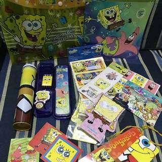 Spongebob Stationary Set