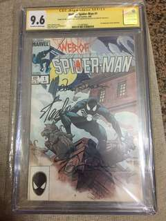 We of Spider-Man #1 CGC 9.6 signed by Stan Lee, Greg Larocque and Louis Simonson!!