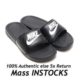 [INSTOCKS] Nike Benassi Sliders Slides Full Black Black White
