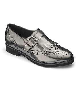 Silver Oxfords Size 41 / UK 8
