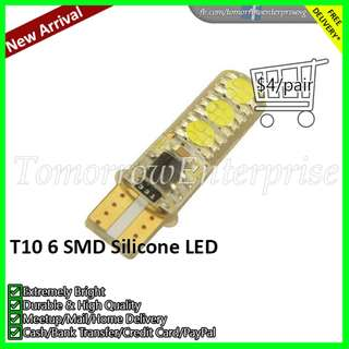 T10 6 SMD Silicone 5050 LED
