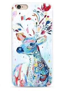 Apple Iphone 6s、6s plus、7 、7 plus 西方藝術 油畫 馴鹿 超薄透明邊 耒機殼 特價$80