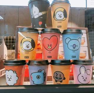 BT21 x Dunkin Donuts cup
