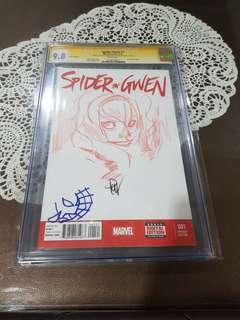 Spider-Gwen Sketch CGC SS 9.8