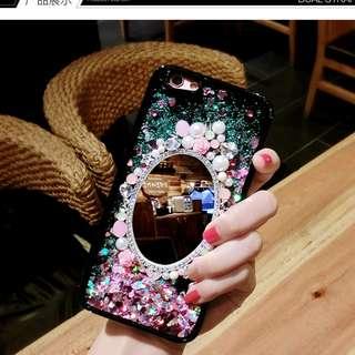 水鑽珍珠幻彩流沙三星S8 S9 S9 plus手機殼