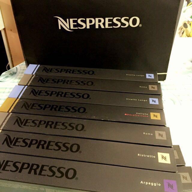 [多買多送!!]$26原裝Nespresso Coffee Capsule膠囊咖啡Roma/Volluto Decaf味