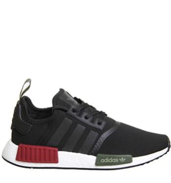 Adidas NMD R1 Black / Burgundy and