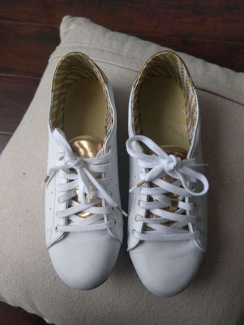 Adidas White Leather Sneakers size 6.5