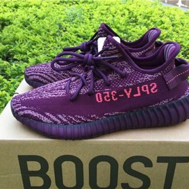 7766501efd6 ... Adidas Yeezy 350 v2 Red Night Chalk Purple