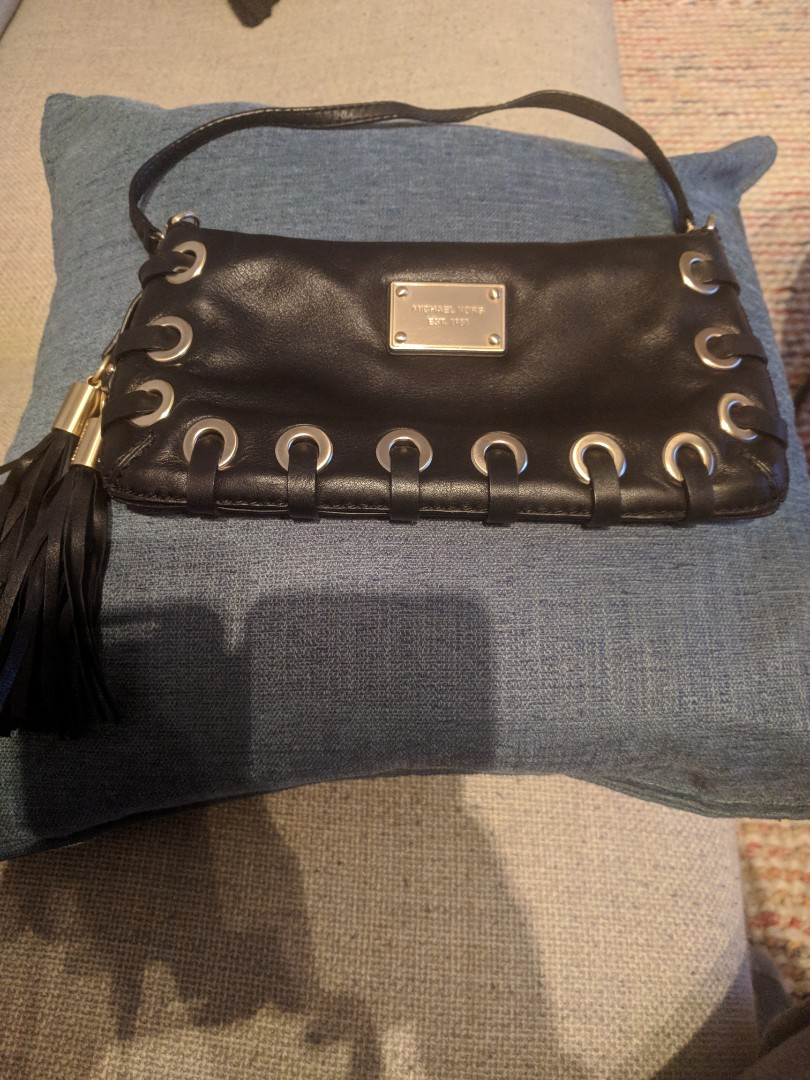 Authentic Michael Kors Black Clutch