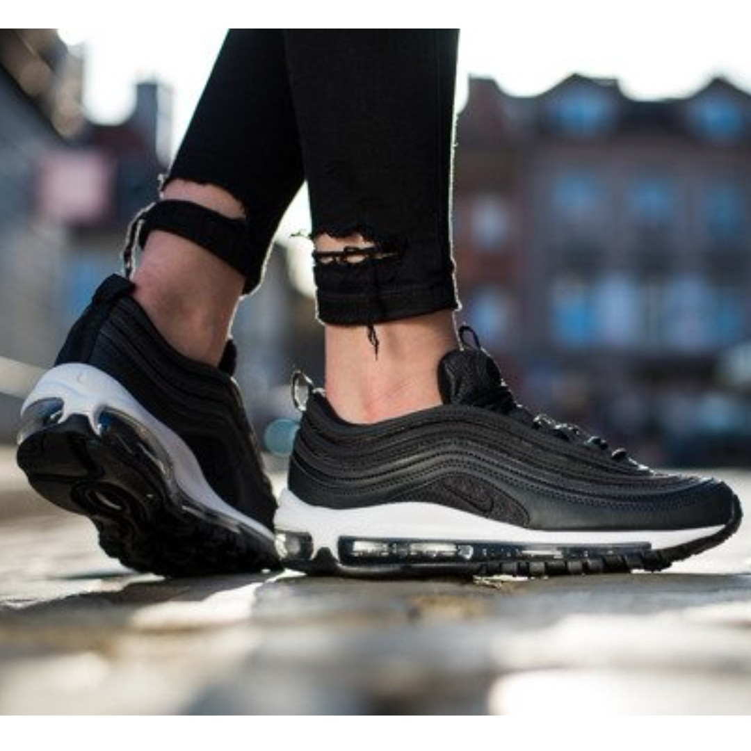 huge selection of d0d96 8af7f Authentic NIKE AIR MAX 97 W BLACK / White, Women's Fashion, Shoes on ...