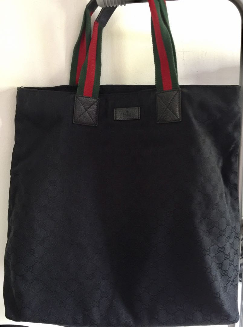 ea6553af8b Black Gucci GG Tote Large 100% Authentic, Luxury, Bags & Wallets on ...