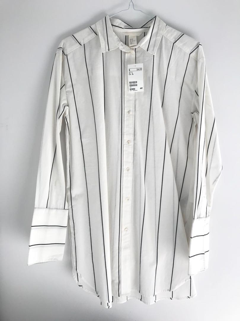 BNWT H&M Striped Oxford