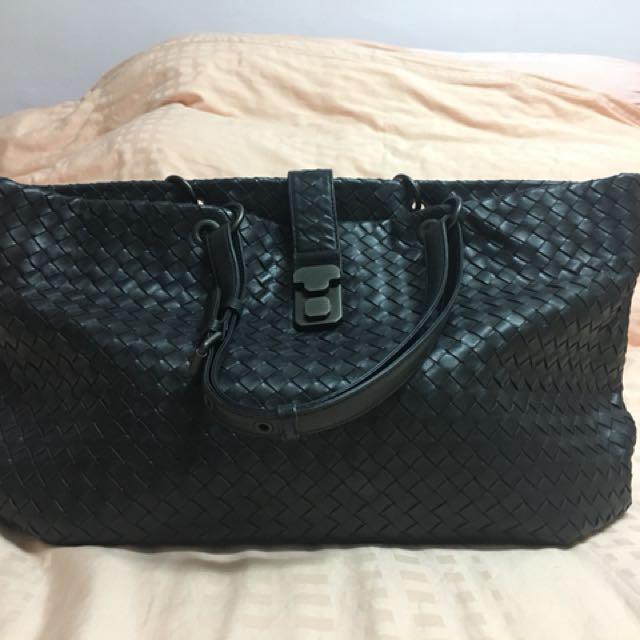 Bottega Veneta Large Navy Tote Bag