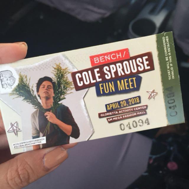 Cole sprouse meet greet 2018 ticketsvouchers gift cards cole sprouse meet greet 2018 ticketsvouchers gift cards vouchers on carousell m4hsunfo