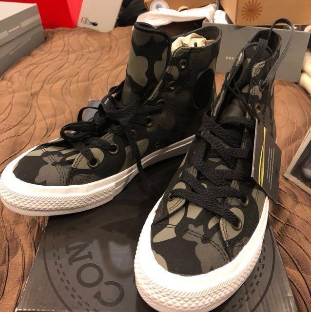 d98e535517e2c Converse Chuck Taylor All Star II Reflective Camo 2 Black Grey ...