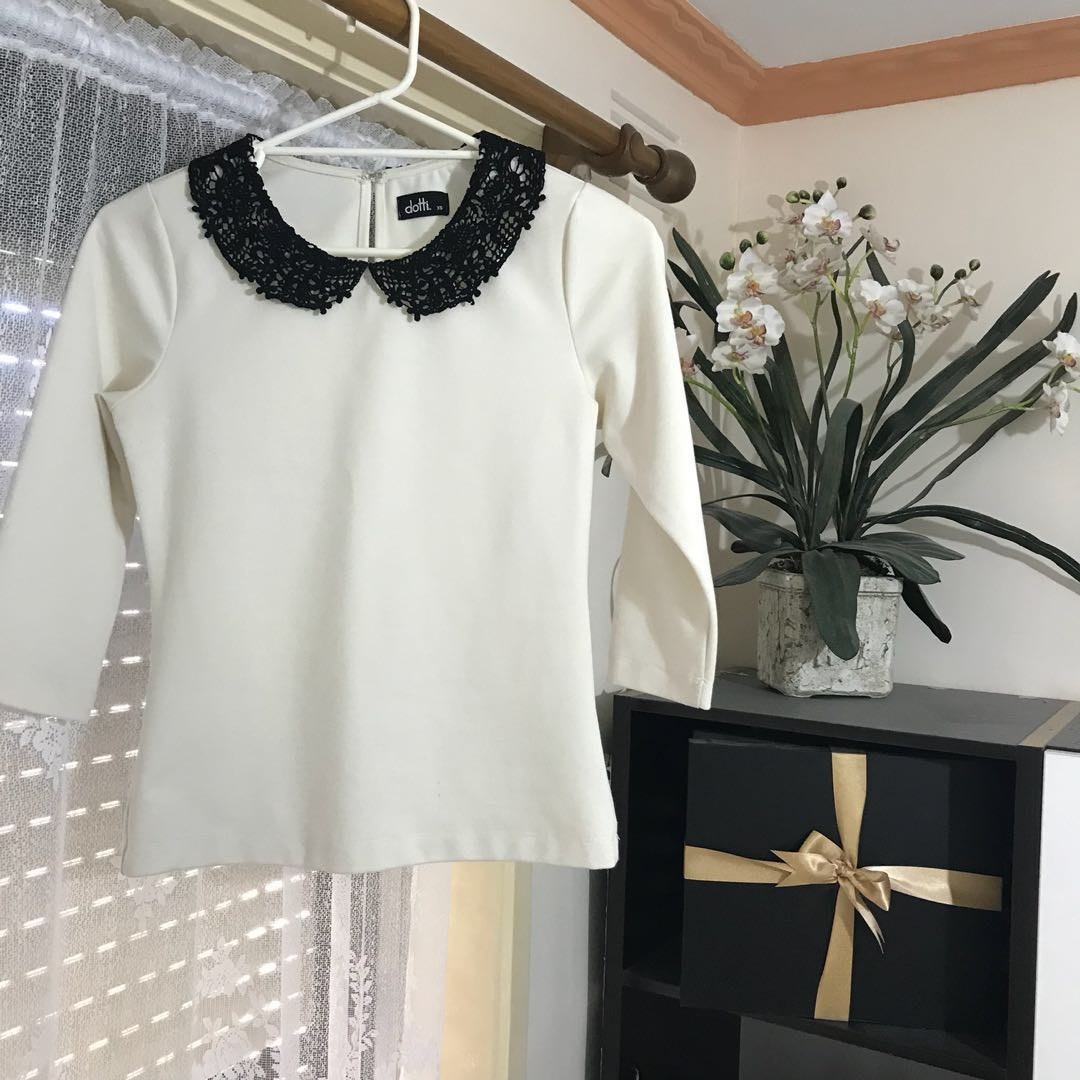 Crochet Collared Top