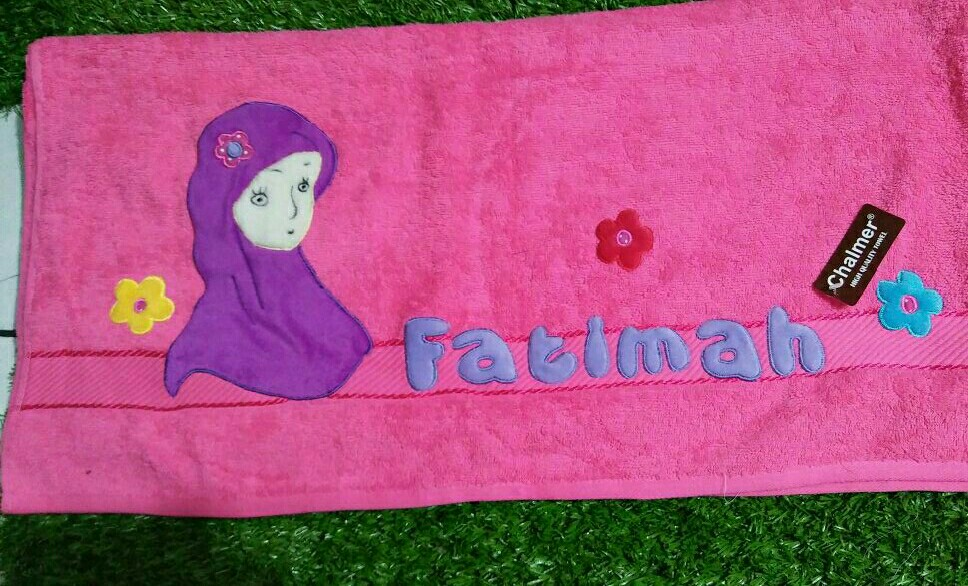 engraved towel with name babies kids on carousell