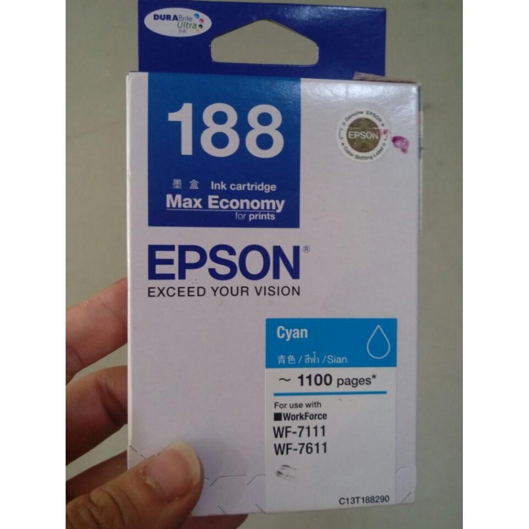 Epson WF 7611 Printer Scanner A3 A4 Wifi (BONUS Tinta+GRATIS Ongkir),