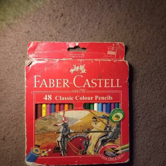 Faber Castell 48 Classic Colored Pencils Design Craft Artwork On