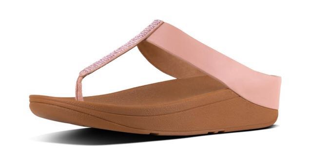 f5ee603b508ab4 FitFlop Fino Crystal Toe-Thong Sandals