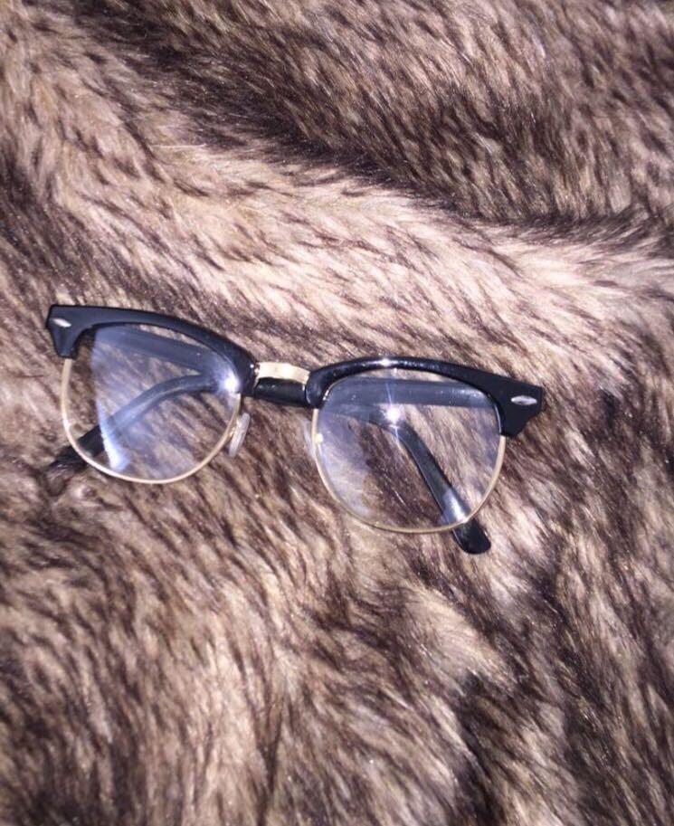 Gold rimmed non prescription glasses