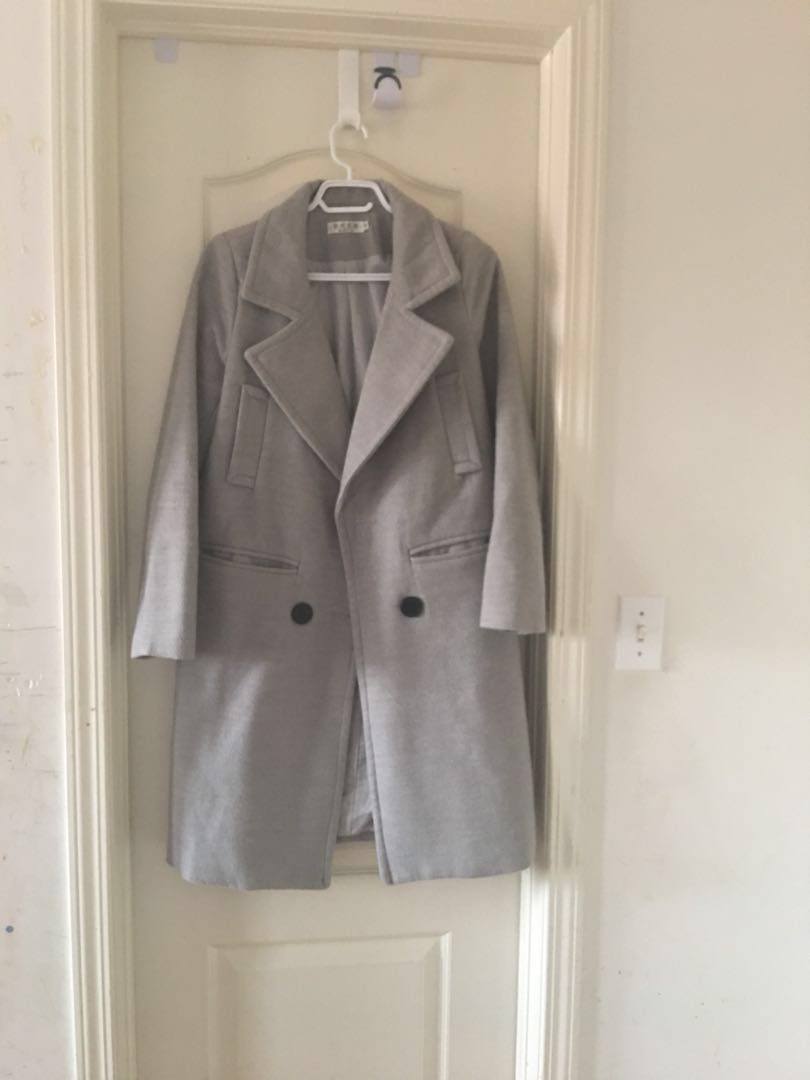 Gray Thick Long Coat