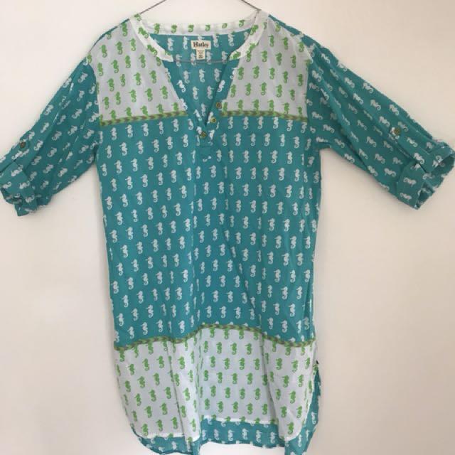 Hatley seahorse tunic top
