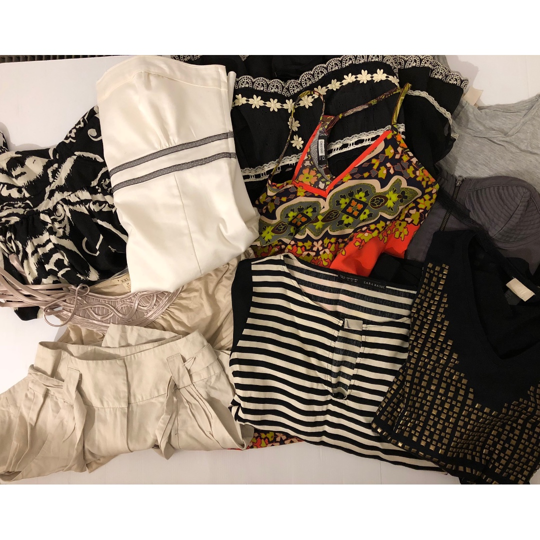 HUGE LOT **TEN PIECES** of Zara + F21 + H&M Dresses, Tops & Shorts