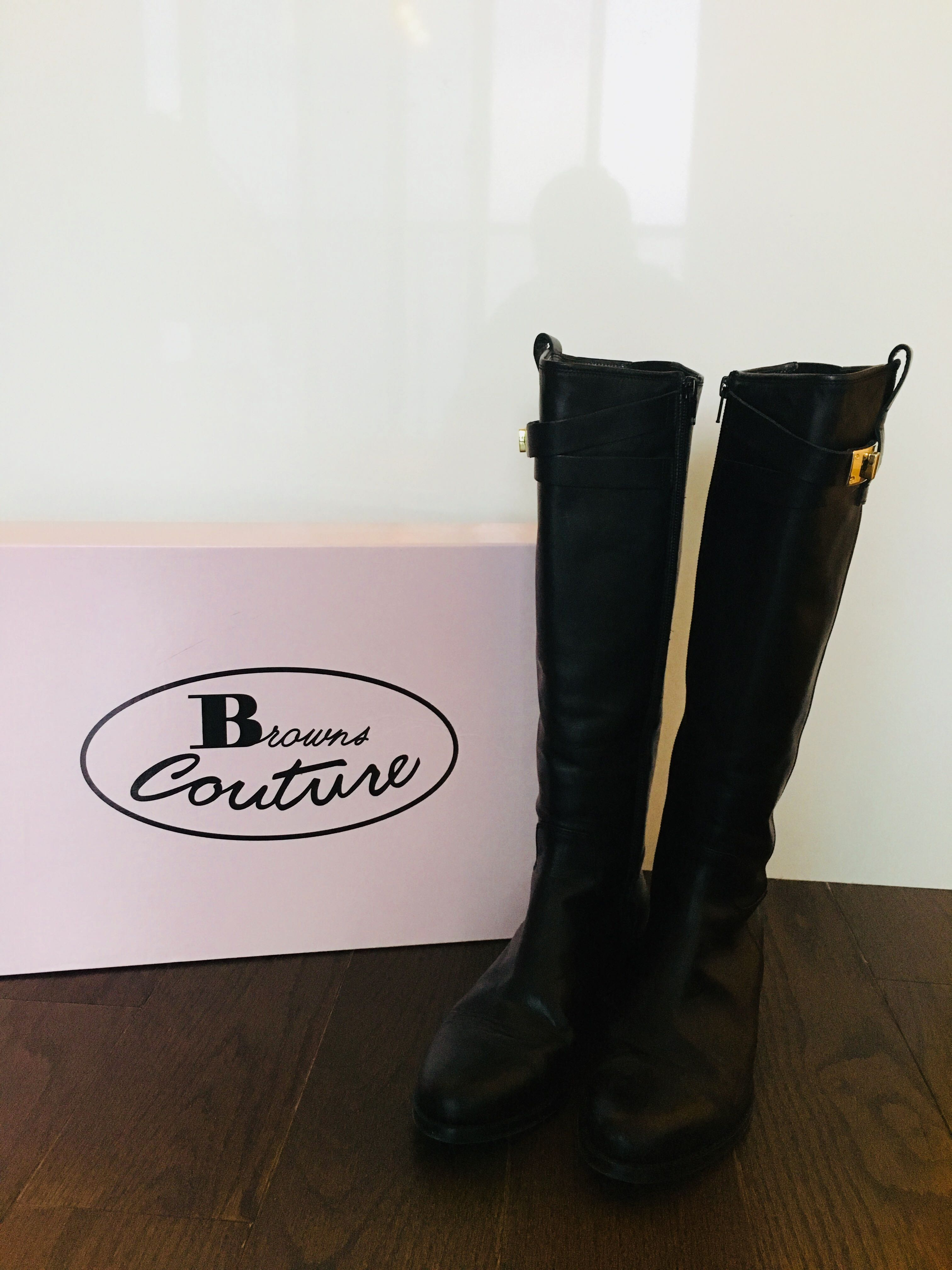Knee High Boots from Browns - Black